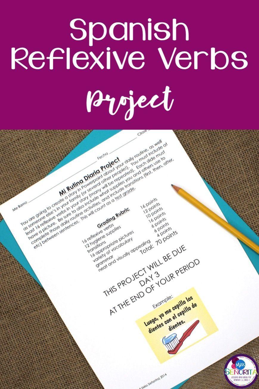 Spanish Reflexive Verbs Project Spanish Reflexive Verbs Reflexive Verbs Spanish Curriculum [ 1304 x 869 Pixel ]