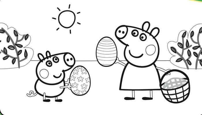 Peppa Pig Easter Coloring Page Malvorlagen Ostern Wenn Du Mal Buch Geburtstag Malvorlagen