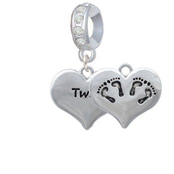 587e73bdb Pandora #Twin Hearts With 2 Pairs of Baby Feet Charm | More for a mom, but  might still be cool for me and brynne.