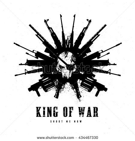 King of war logo,skull and gun, game logo. | LOGOS | Pinterest ...
