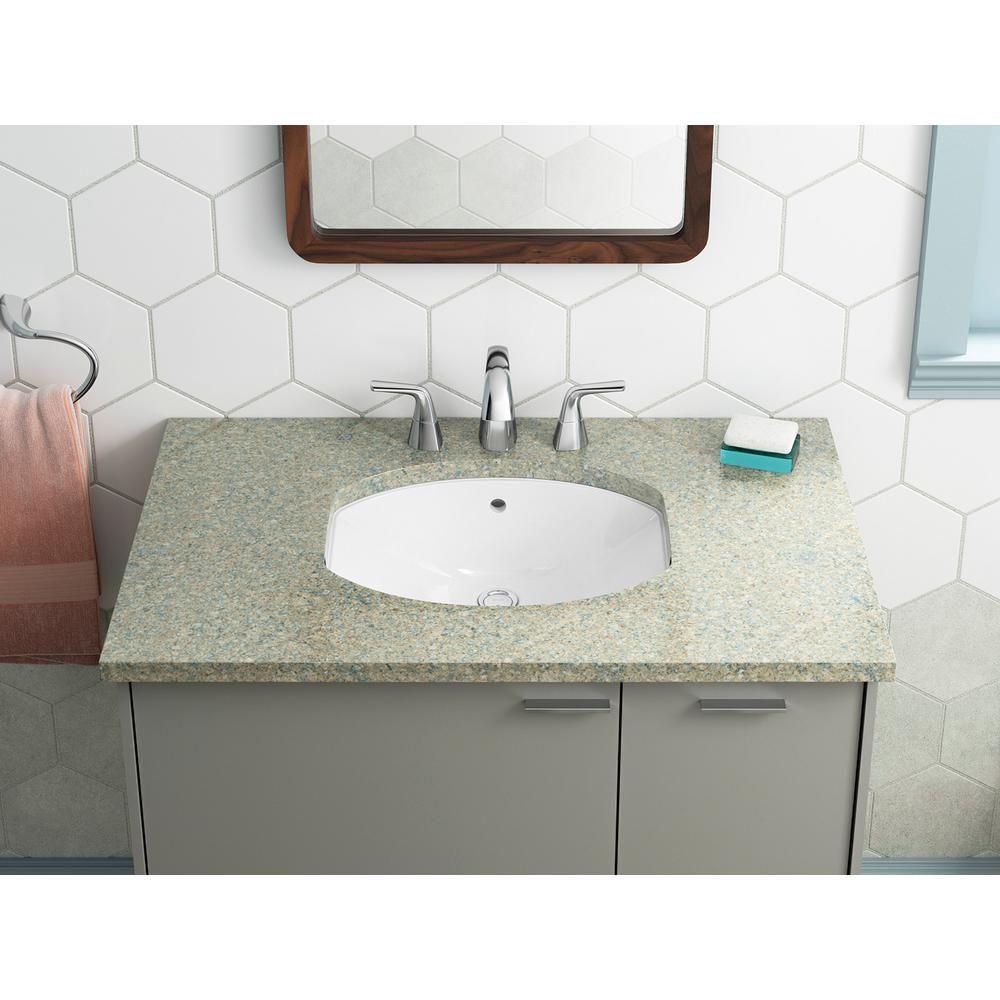 Kohler Elmbrook Undermount Bathroom Sink In White K R3904 0 With