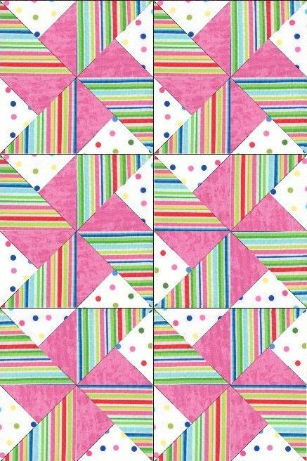Sprinkles and Cotton Candy Pre-Cut Quilt Blocks Kit