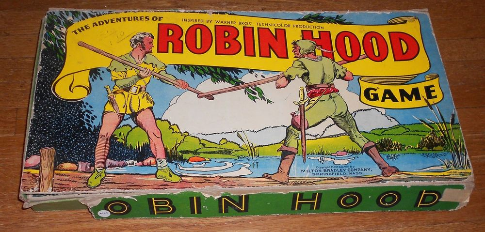 1938 Antique Board Game Adventures of Robin Hood Game