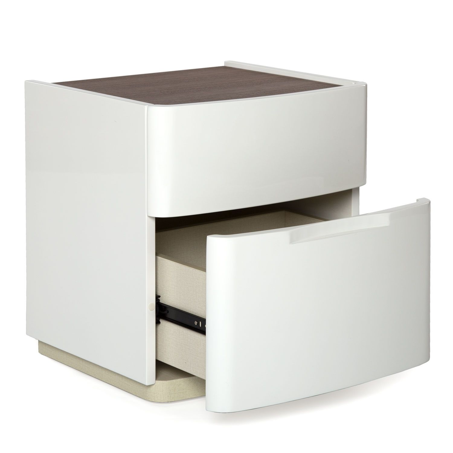 Best Modern High Gloss Night Stand With Images White 400 x 300