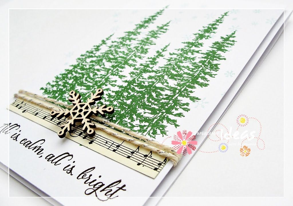 Stampin Up ,, Wonderland \u0027\u0027 card sample Ink Early Expresso, Garden