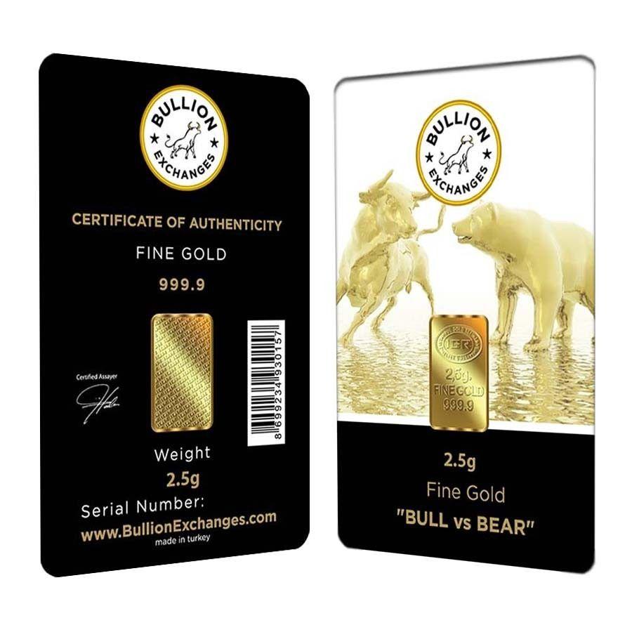 2 5 Gram Bullion Exchanges Bull Vs Bear Istanbul Gold Refinery Igr Bullion Gold Bar Gold Bullion