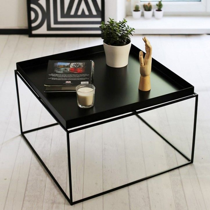 Thin Black Metal Coffee Table By Hay Coffee Table Sofa Table