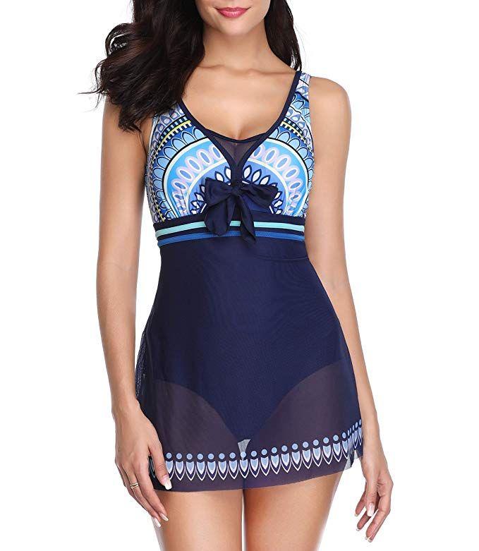 d5b8ada461a55 Urban Virgin Women Boy-Leg Swimwear for Womens Swimsuits One Piece Bathing  Suit Swim Suit Swimdress