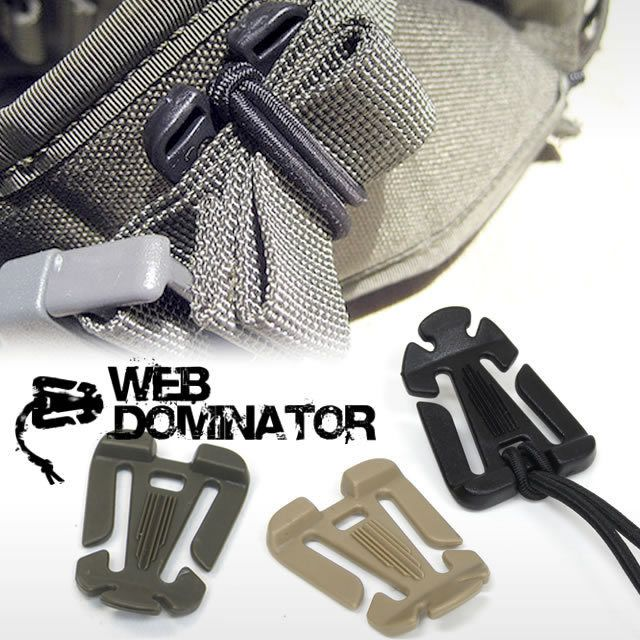 2Pcs Backpack Molle Strap Bag Webbing Clamp Connecting Buckle Clips 30mm  CL.