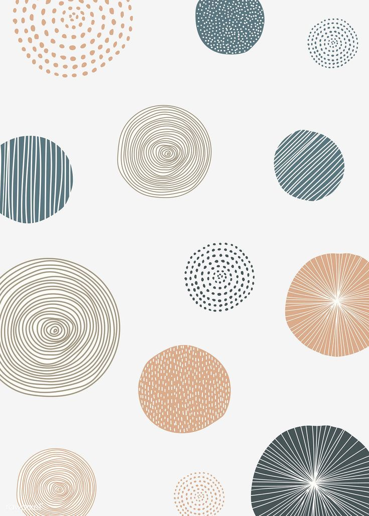 Download premium vector of Round patterned doodle background vector 844884
