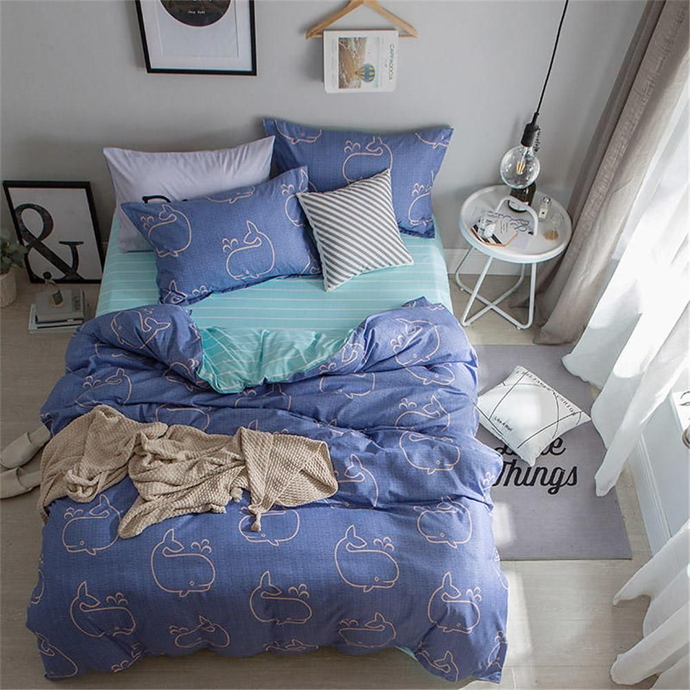 Duvet Cover Sets Solid Colored Contemporary Polyester