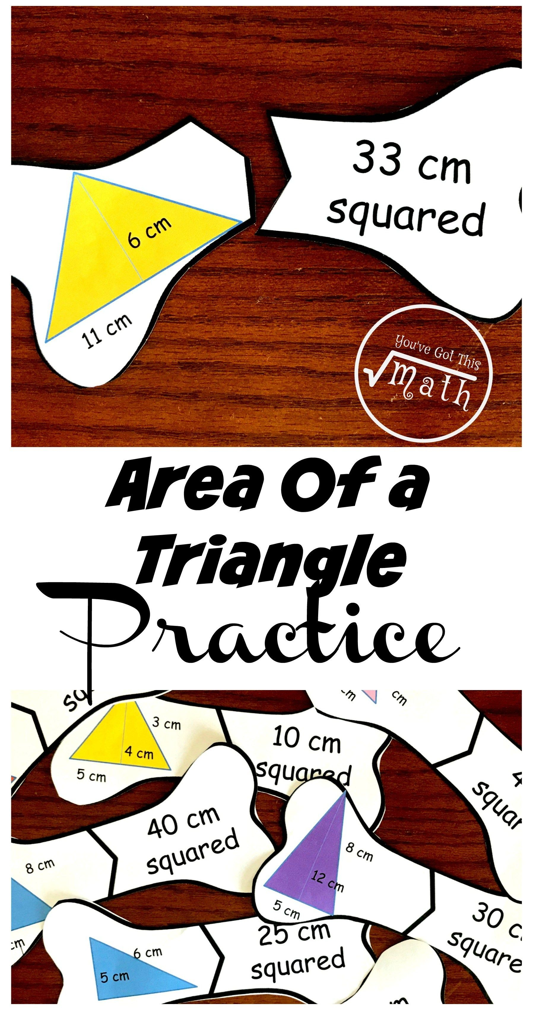 10 Helpful Puzzles To Provide Area Of A Triangle Problems