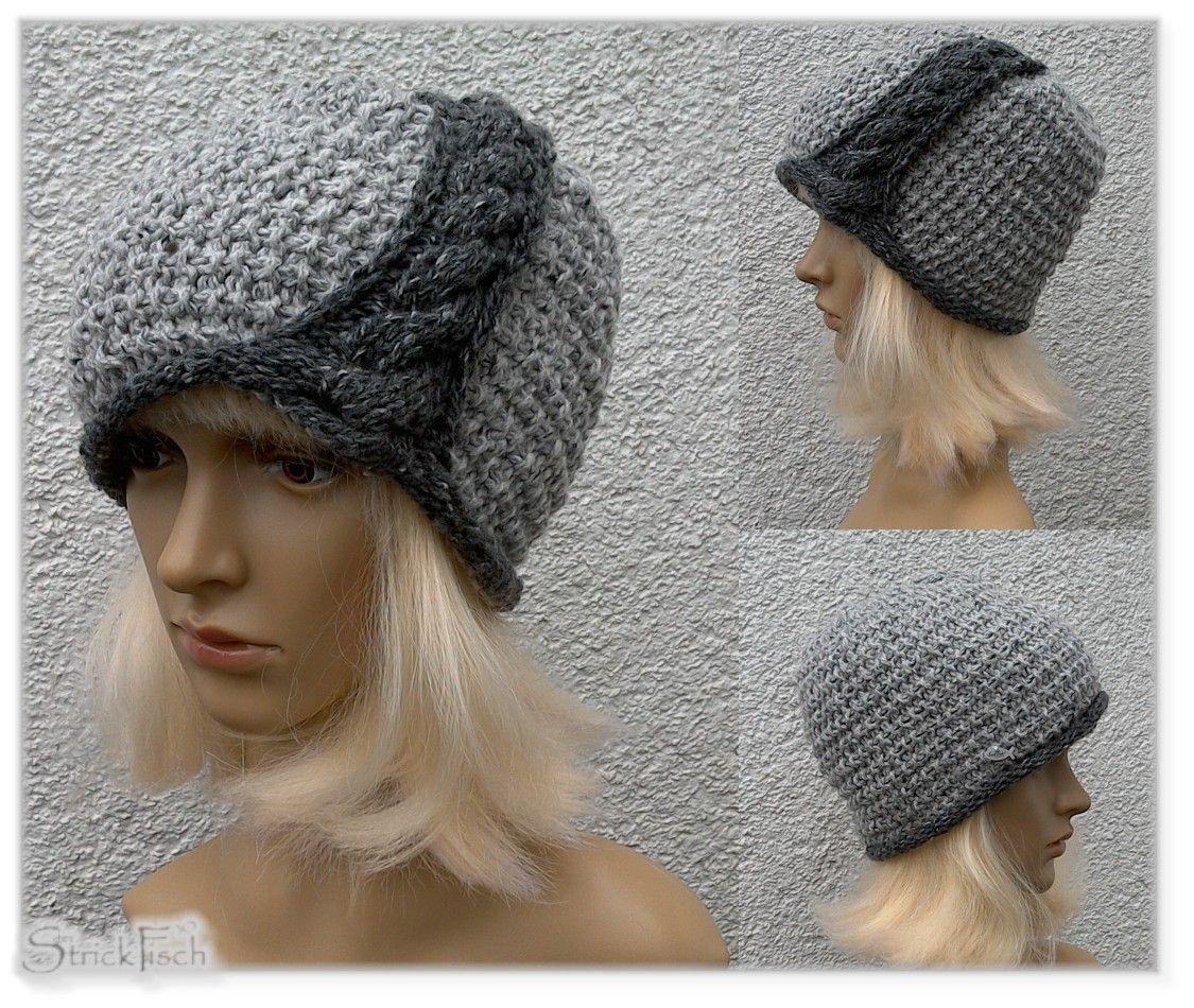 StrickFisch: halb Hut, halb Mütze...mit nostaligischem Touch ...