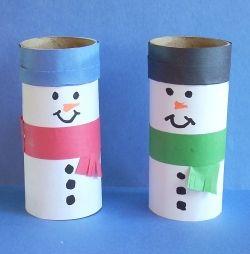 Bonecos De Neve Feitos Com Rolos De Papel Higiénico Natal
