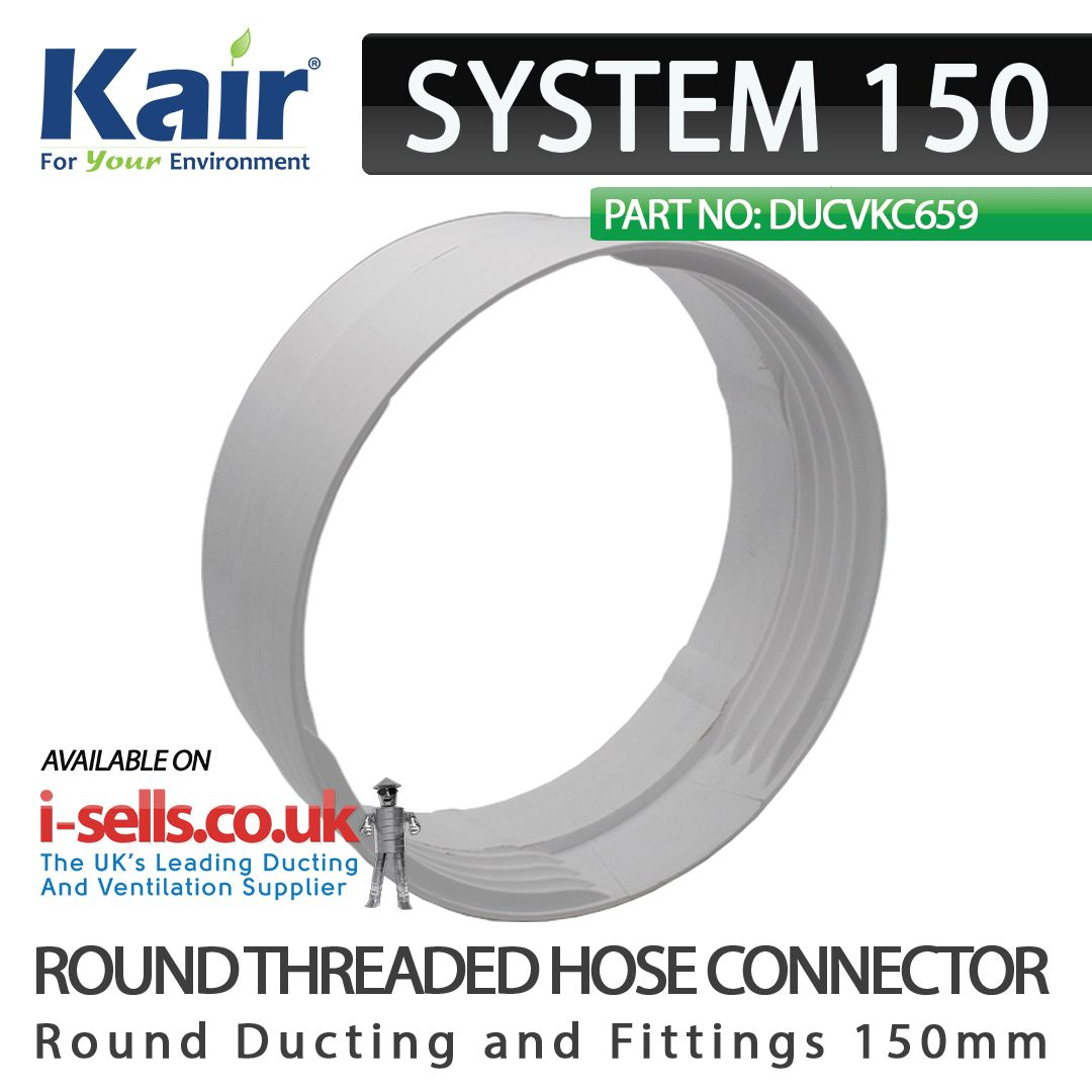 Kair Threaded Connector 150mm 6 Inch For Joining Flexible Hose