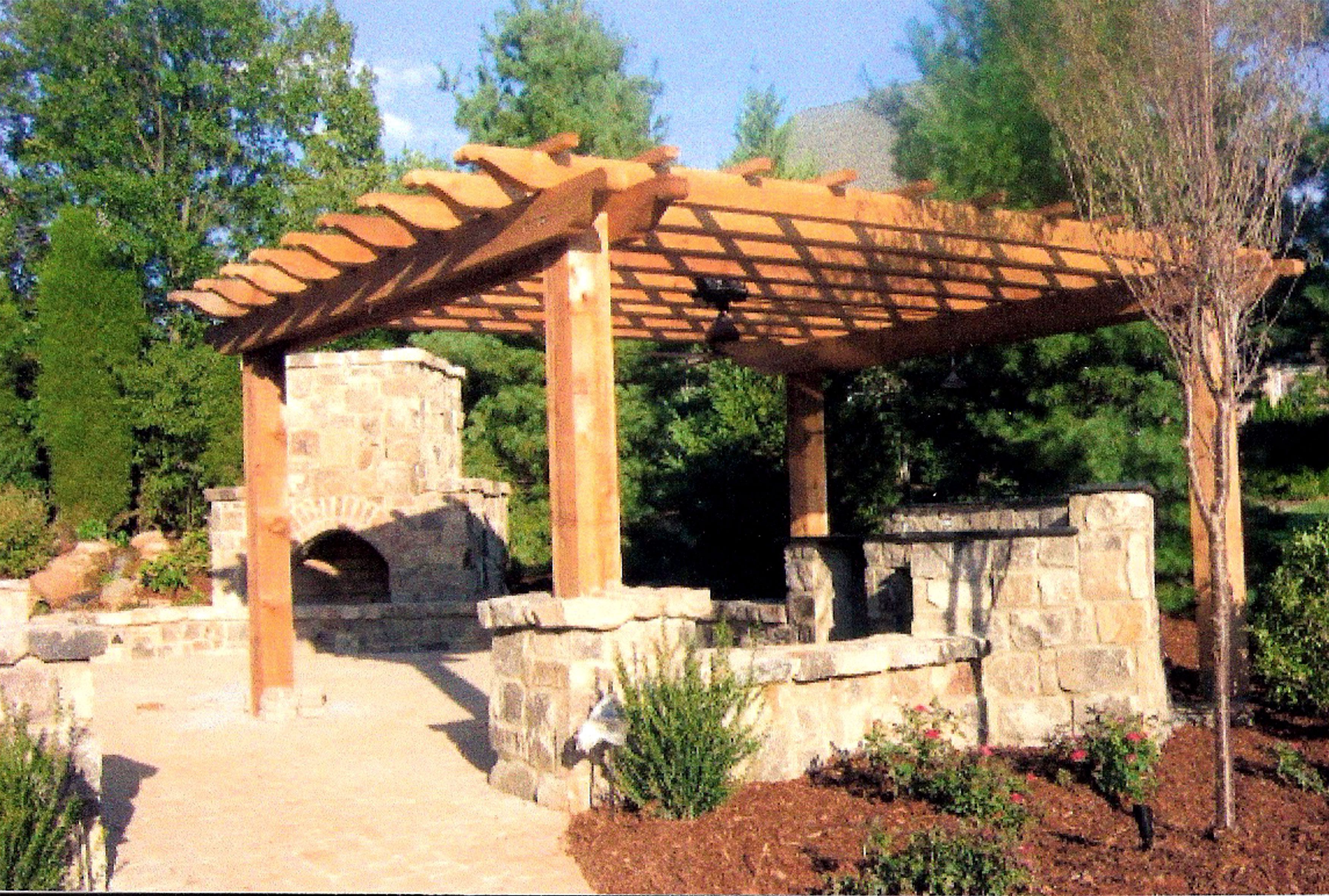 Custom trellis to match pergola landscapes by earth design - Pergola Ideas Pictures Outdoor Living Improvements Arbors And Pergolas In Charlotte Nc