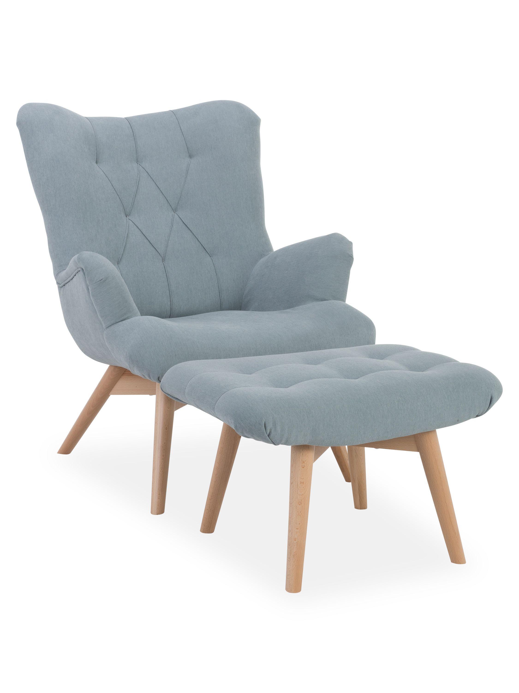 Sessel U Hocker Glasgow Sessel Sessel Mit Hocker Wohnzimmer Sessel