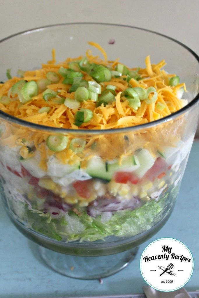7 Layer Salad My Way Layered Salad Seven Layer Salad 7 Layer Salad