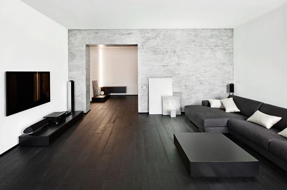 Zwarte vloer welke kleur meubels woonkamer | mij | Pinterest ...