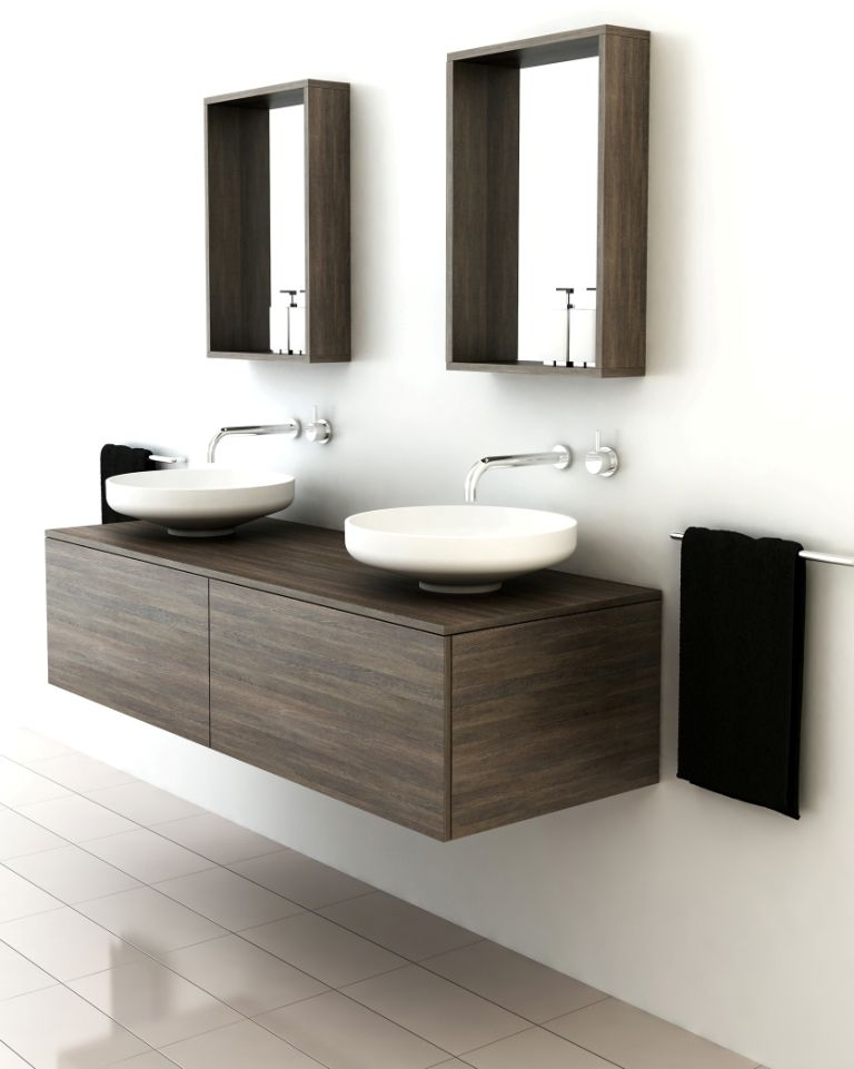 What a perfect fit for a minimalist contemporary home. These timber vanities with basins by Omvivo offer modern finishes with an organic feel. The collection is called Venice, and lives...