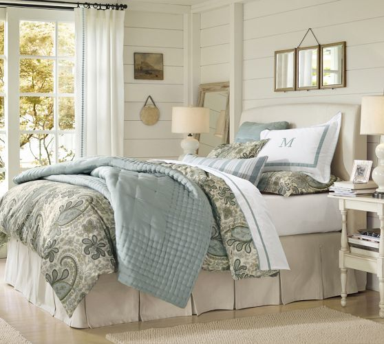 Pleated Button Bed Skirt Organic Duvet Covers Blue Pottery And Pottery