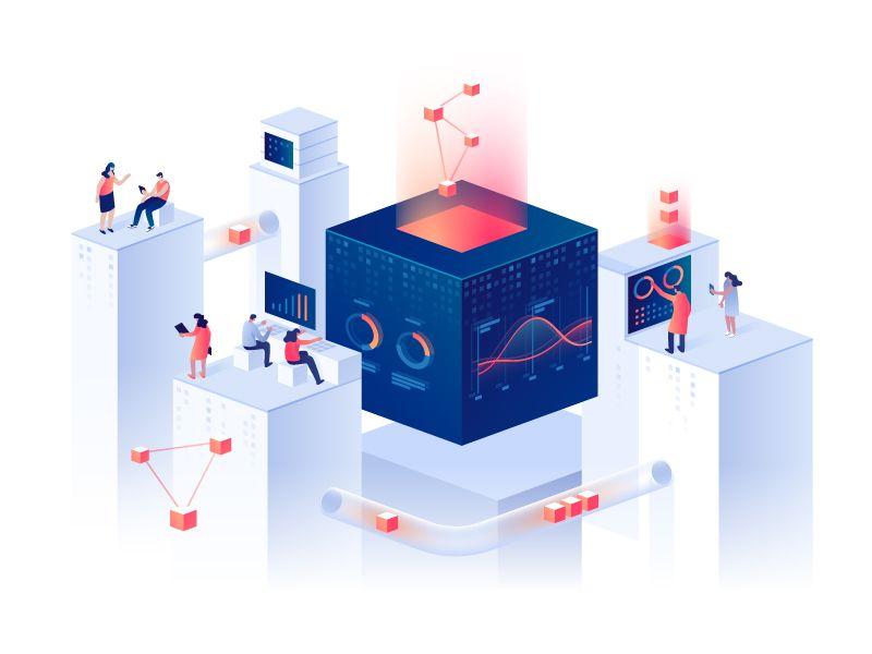Data Analytics In 2020 Isometric Design Data Analytics Diagram