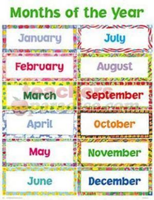 image about Free Printable Months of the Year named Cost-free+Printable+Weeks+of+12 months ESL Weeks inside of a calendar year