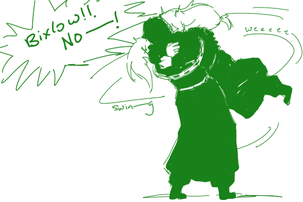 Anonymous said: Freed give Bixlow a big hug, he deserve it! (sorry for my english, I love Freed-Bixlow interaction >w Answer: Bixlow is not allowed to receive anymore hugs.