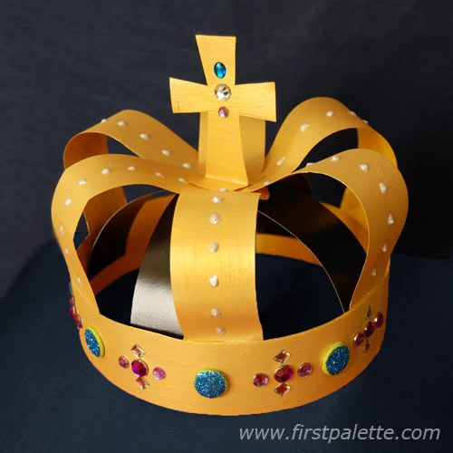 how to make a crown out of paper king