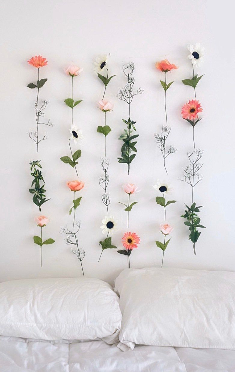Customizable Hanging Fake Flower Wall for Backdrops and