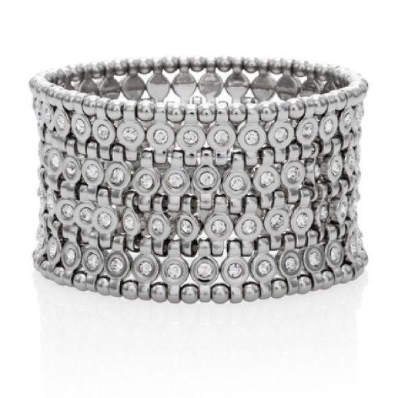 Wide stretch bracelet Wide stretch bracelet White House Black Market Jewelry Bracelets