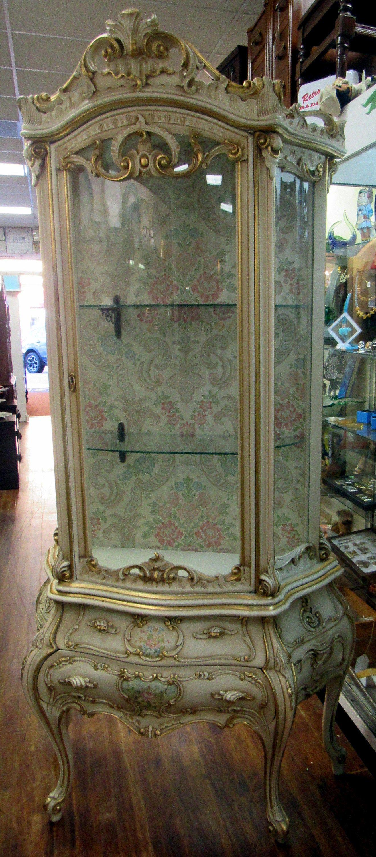 Italian Curio Cabinet Rococo Baroque By
