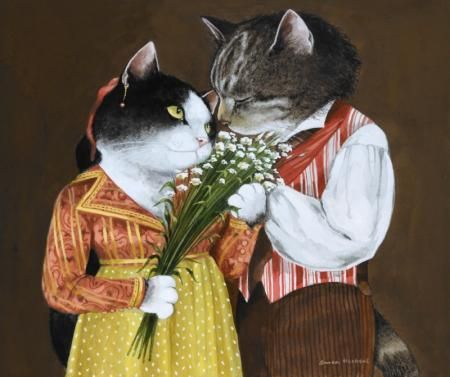 Tosca, Act I by Susan Herbert from Opera Cats