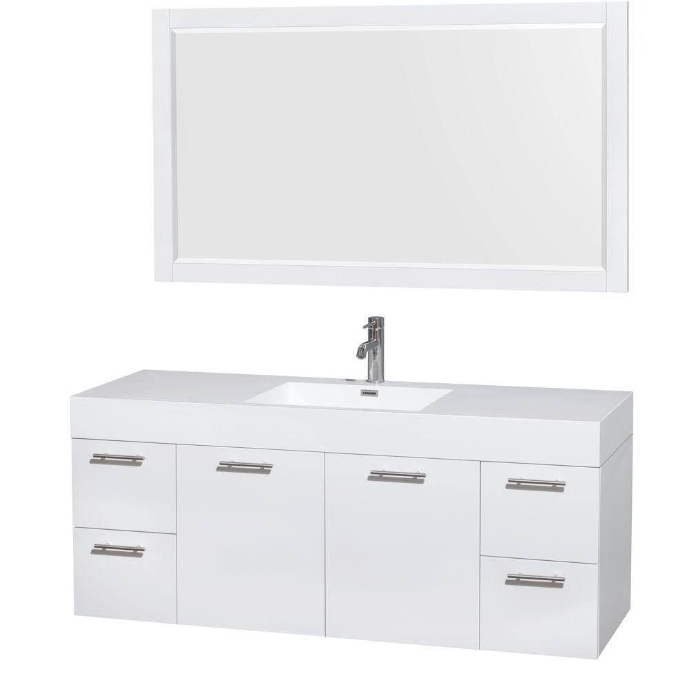 Wyndham Wcr410060sgwarintm58 60 In Single Bathroom Vanity In
