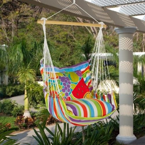 How to make a fabric hammock chair for How to build a swing chair