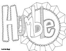 Free printable coloring pages, inspiring words, believe