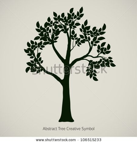 Oak Tree Silhouette Vector Element Design By Banana Republic Images