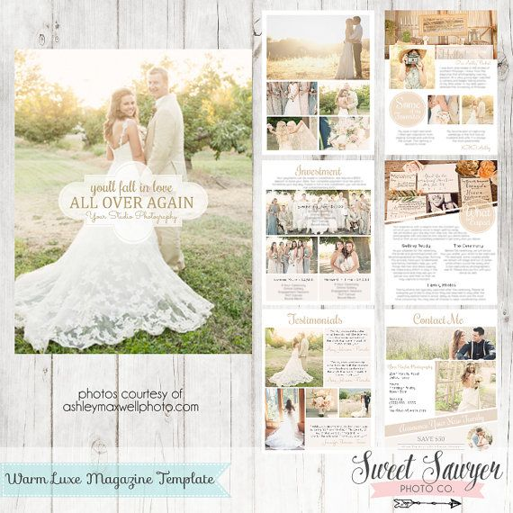 INSTANT DOWNLOAD - Wedding Magazine Template or Price List - wedding price list