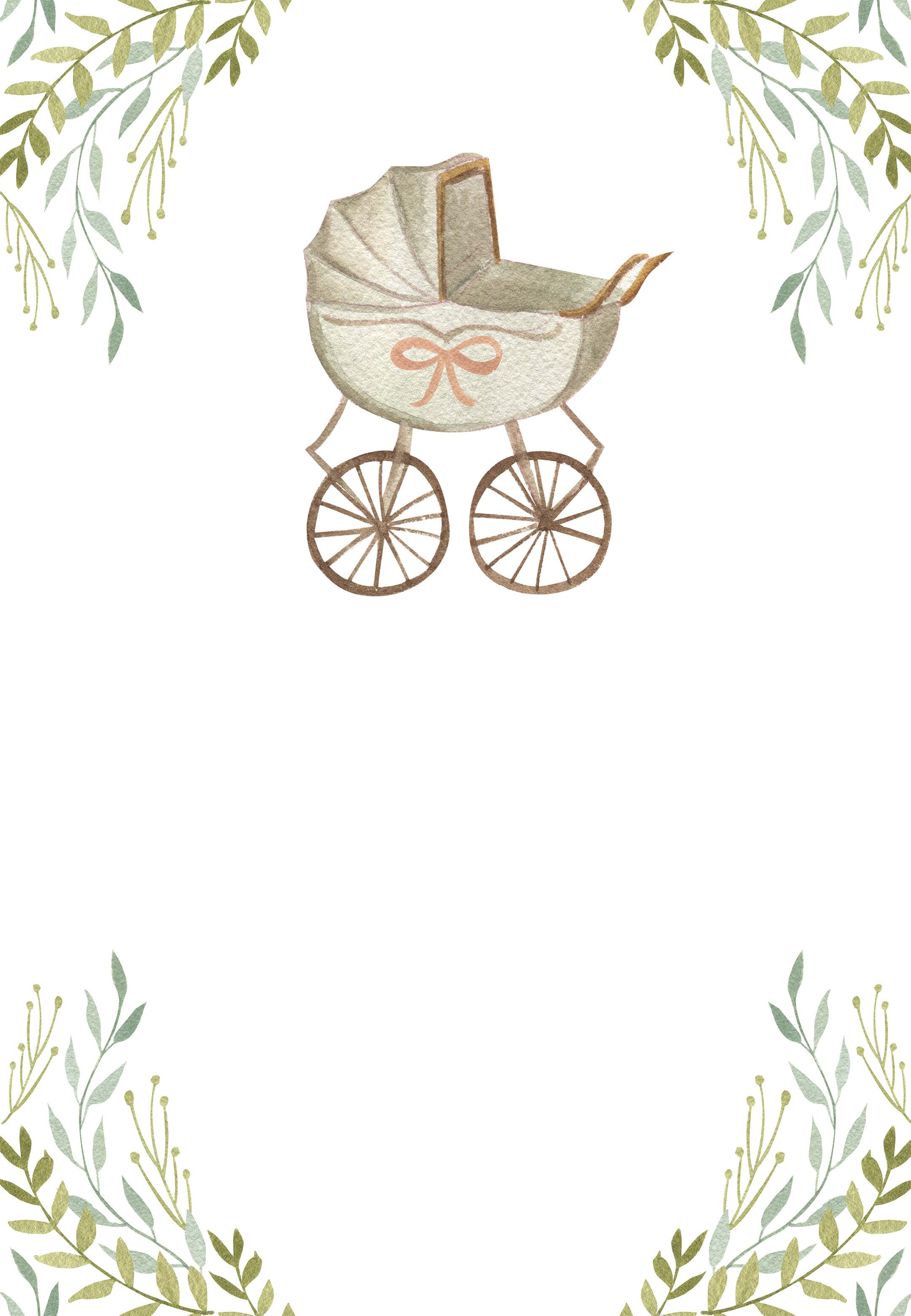 Watercolor Stroller Baby Shower Invitation Template Greetings Island Baby Shower Invitation Templates Baby Shower Background Baby Boy Cards