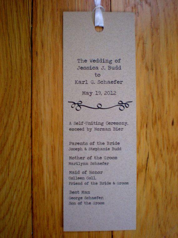 wedding bookmark