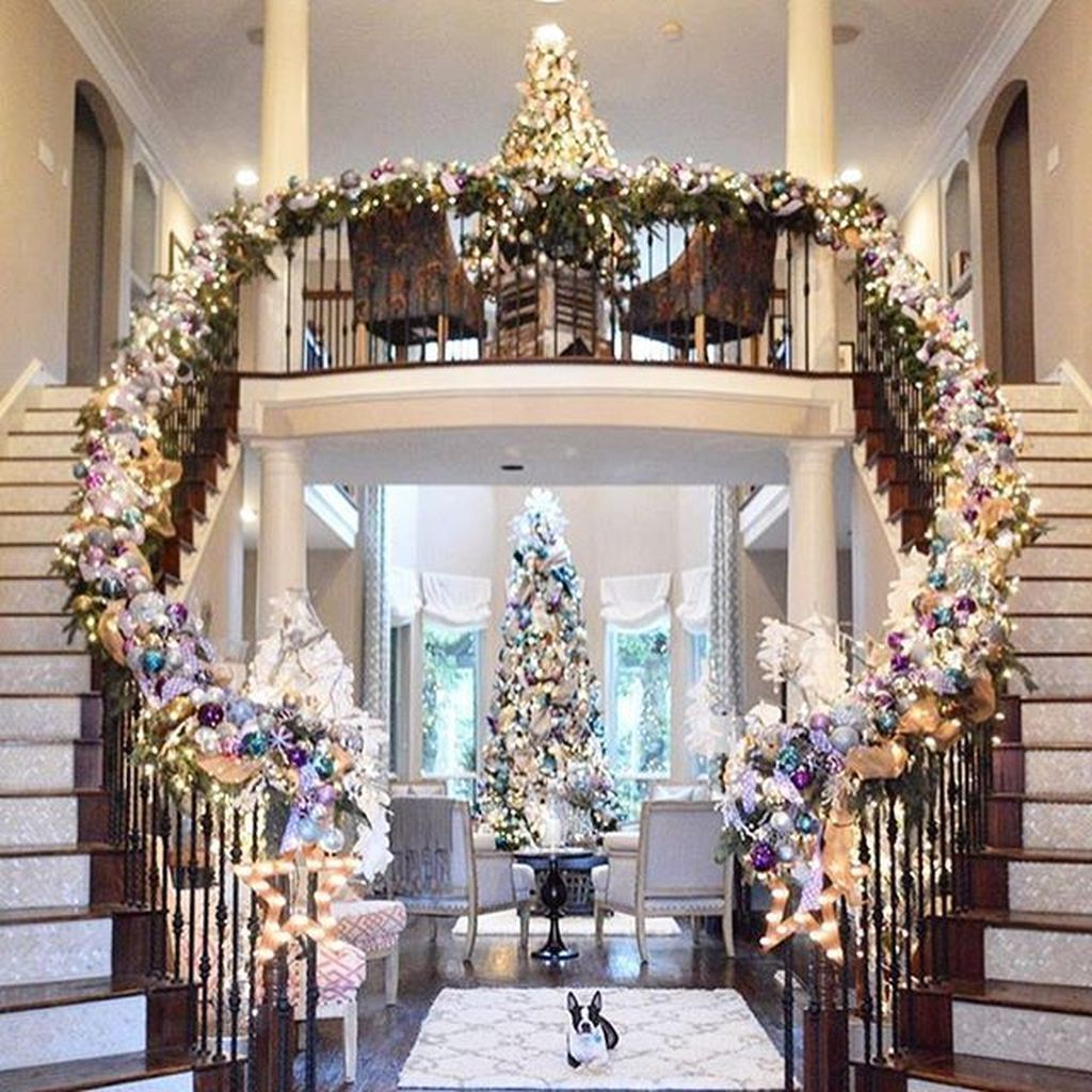 Home Design Ideas For Christmas: 37 Amazing Double Staircase Design Ideas With Luxury Look