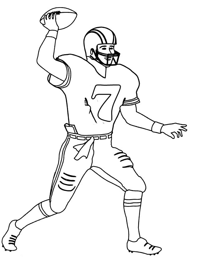Printable Nfl Football Player Number 7 Coloring Pages Football Coloring Pages Sports Coloring Pages Coloring Pages For Kids