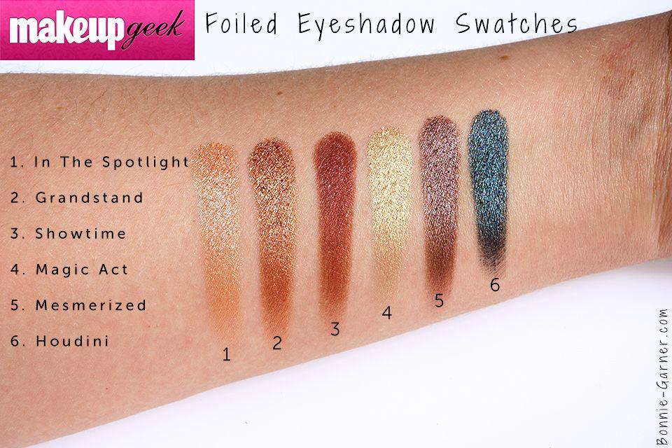 Makeup geek foiled eyeshadow magic act