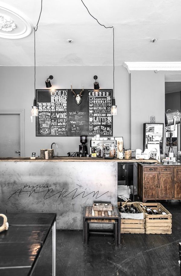 pinterest suitcase ideas | cool and minimalist industrial kitchen