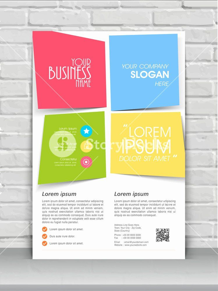 One Page Flyer Template Inspirational Colorful Creative One Page Flyer Banner Or Template Design Brochure Template Flyer Template Pamphlet Template