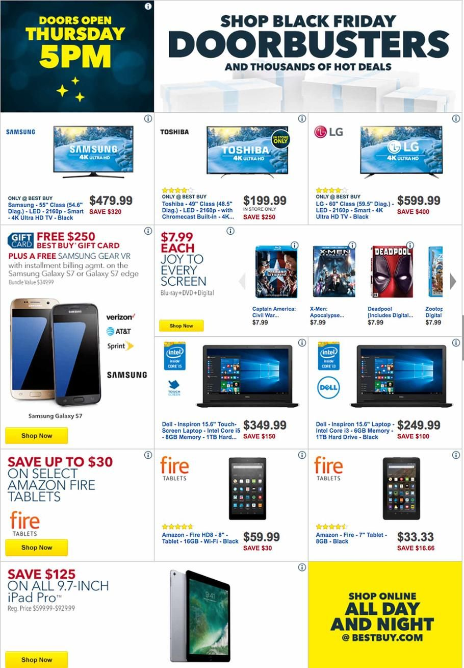 Best Buy Black Friday Ad 2016 | Ad 2016, Black friday and Thanksgiving
