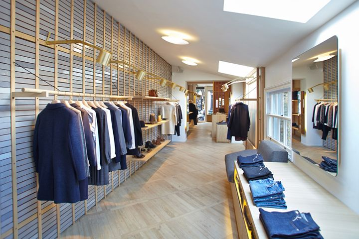 Delightful Retail Interior · It Occupies An Elongated Ground Floor Unit, And Has Its  Walls Covered In Vertically Stacked