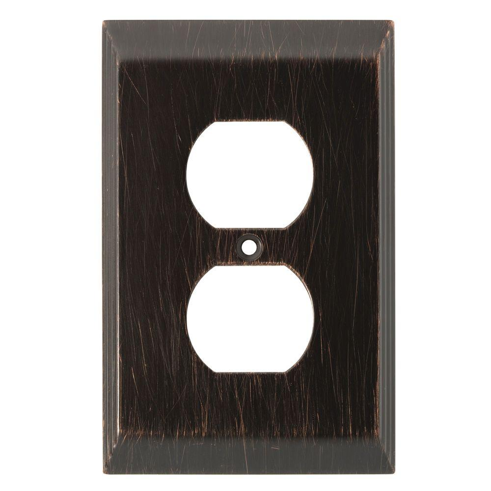 Liberty Stately Decorative Single Duplex Outlet Cover Venetian