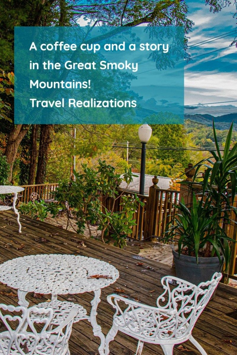 A coffee cup and a story in the great smoky mountains