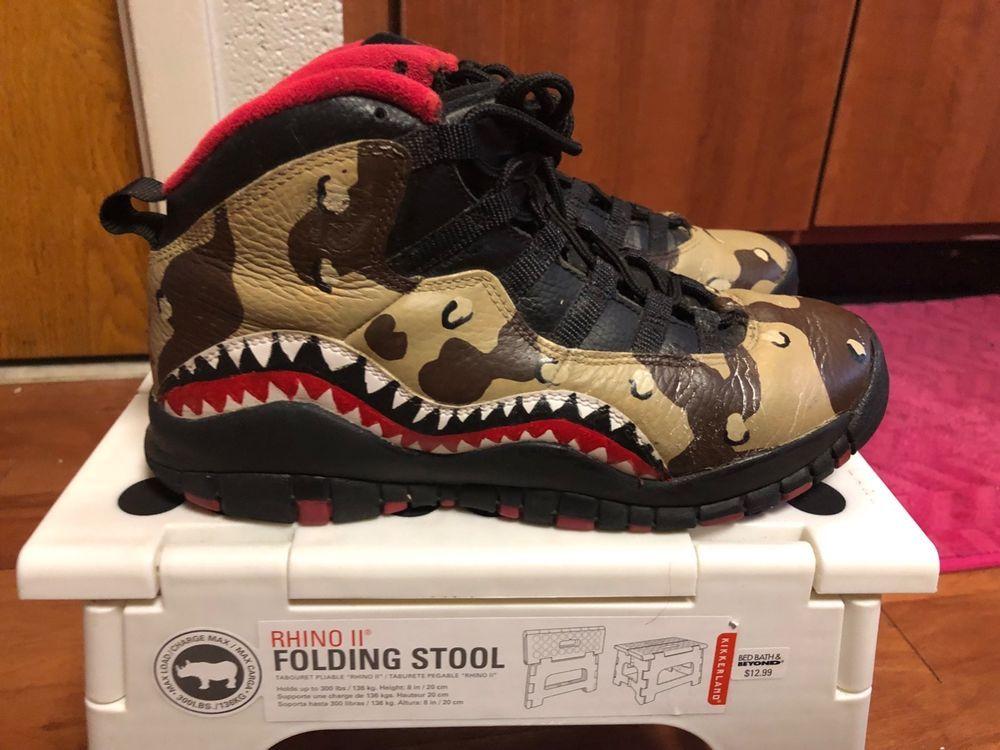 797c23d5c41d Jordan Customs Retro 10 (BAPE STYLE) Size 6  fashion  clothing  shoes   accessories  mensshoes  athleticshoes (ebay link)